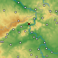 Nearby Forecast Locations - Ústí nad Labem - Carte