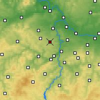Nearby Forecast Locations - Prague - Carte
