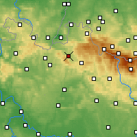 Nearby Forecast Locations - Liberec - Carte