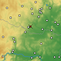 Nearby Forecast Locations - Kuchařovice - Carte