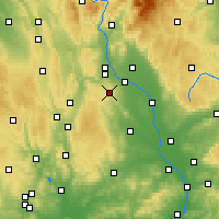 Nearby Forecast Locations - Luká - Carte