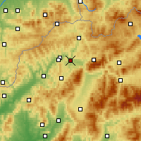 Nearby Forecast Locations - Žilina - Carte