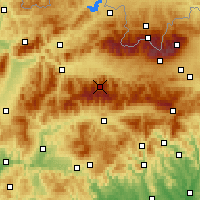 Nearby Forecast Locations - Chopok - Carte