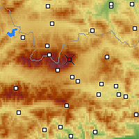 Nearby Forecast Locations - Lomnický štít - Carte