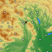Nearby Forecast Locations - Prešov - Carte