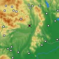 Nearby Forecast Locations - Košice - Carte