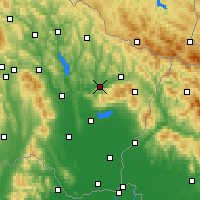 Nearby Forecast Locations - Kamenica nad Cirochou - Carte