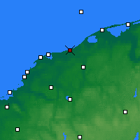 Nearby Forecast Locations - Ustka - Carte