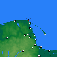 Nearby Forecast Locations - Cape Rozewie - Carte