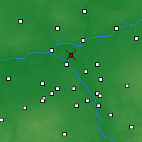 Nearby Forecast Locations - Legionowo - Carte