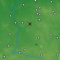 Nearby Forecast Locations - Łask - Carte