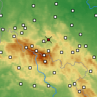 Nearby Forecast Locations - Jelenia Góra - Carte