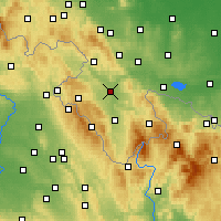 Nearby Forecast Locations - Kłodzko - Carte