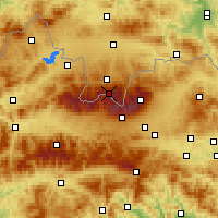 Nearby Forecast Locations - Kasprowy Wierch - Carte