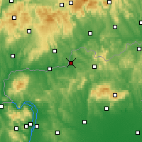Nearby Forecast Locations - Szécsény - Carte