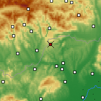 Nearby Forecast Locations - Jósvafő - Carte