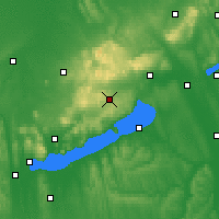 Nearby Forecast Locations - Veszprémfajsz - Carte