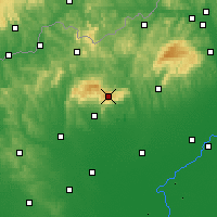 Nearby Forecast Locations - Kékes - Carte