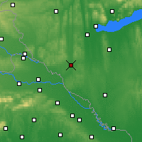 Nearby Forecast Locations - Nagykanizsa - Carte