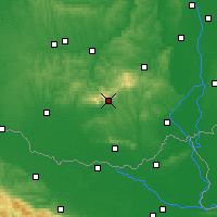 Nearby Forecast Locations - Pécs - Carte