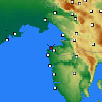 Nearby Forecast Locations - Portorož - Carte