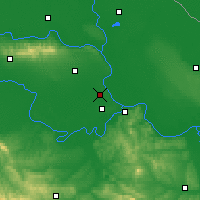Nearby Forecast Locations - Batajnica - Carte