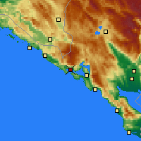 Nearby Forecast Locations - Herceg Novi - Carte