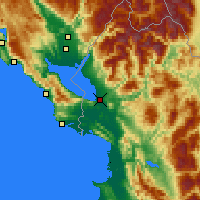 Nearby Forecast Locations - Shkodër - Carte