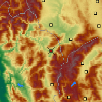 Nearby Forecast Locations - Kukës - Carte