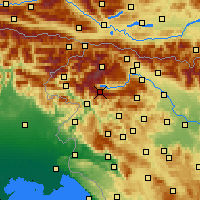Nearby Forecast Locations - Vogel - Carte