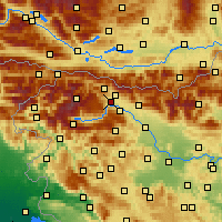 Nearby Forecast Locations - Bled - Carte