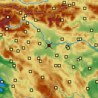 Nearby Forecast Locations - Ljubljana - Carte