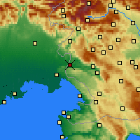 Nearby Forecast Locations - Nova Gorica - Carte