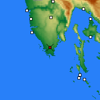 Nearby Forecast Locations - Pula - Carte