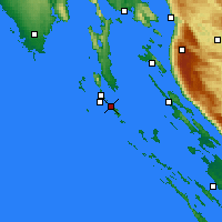Nearby Forecast Locations - Mali Lošinj - Carte
