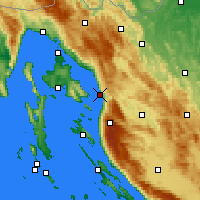 Nearby Forecast Locations - Senj - Carte