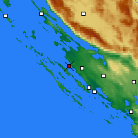 Nearby Forecast Locations - Zadar - Carte