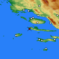 Nearby Forecast Locations - Hvar - Carte