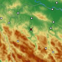 Nearby Forecast Locations - Sanski Most - Carte