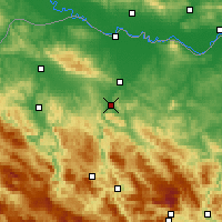 Nearby Forecast Locations - Banja Luka - Carte