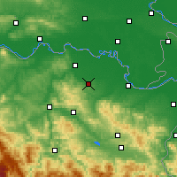 Nearby Forecast Locations - Gradačac - Carte