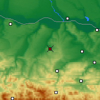 Nearby Forecast Locations - Pleven - Carte