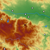 Nearby Forecast Locations - Rojen - Carte