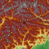 Nearby Forecast Locations - Sesto - Carte
