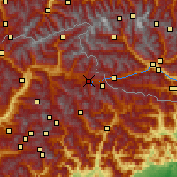 Nearby Forecast Locations - Dobbiaco - Carte