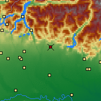 Nearby Forecast Locations - Bergame - Carte