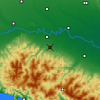 Nearby Forecast Locations - Plaisance - Carte