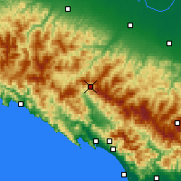 Nearby Forecast Locations - Passo D. Cisa - Carte