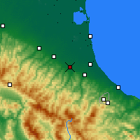 Nearby Forecast Locations - Forlì - Carte