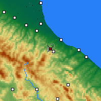 Nearby Forecast Locations - Saint-Marin - Carte